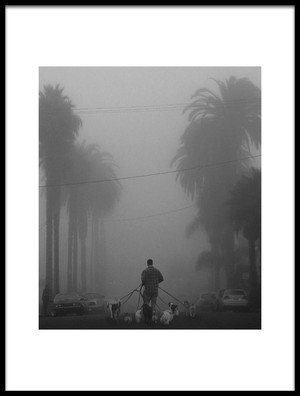 Buy this art print titled Walking the Dogs by the artist LARRY BUTTERWORTH