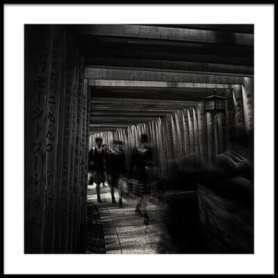 Buy this art print titled Walking Through the 1000 Tori Gates by the artist swapnil.