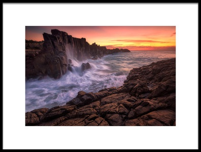 Buy this art print titled Wall by the Sea by the artist Joshua Zhang