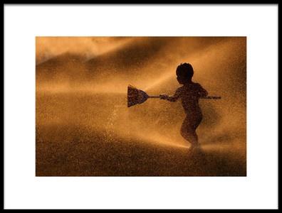 Buy this art print titled Water Game by the artist Murat Aslankara