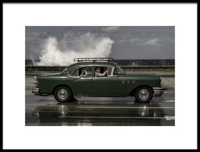 Art print titled Waving Malecon by the artist Andreas Bauer