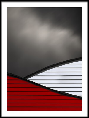 Art print titled Wavy Red White Roof by the artist Gilbert Claes