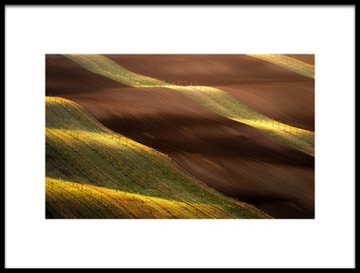 Art print titled Wavy Sunset by the artist Marek Boguszak