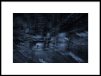 Art print titled Way Down We Go by the artist Uschi Hermann