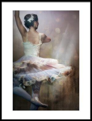 Art print titled We Danced to a Whispered Voice by the artist Charlaine Gerber