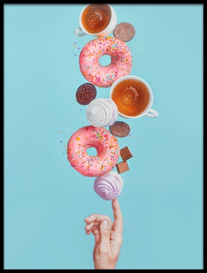 Buy this art print titled Weekend Donuts by the artist Dina Belenko