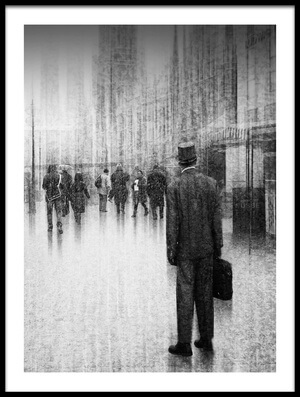 Buy this art print titled What's Going On Inside of the City? by the artist Roswitha Schleicher-Schwarz