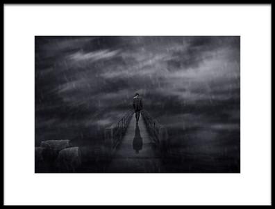 Art print titled When Im Alone by the artist Che Abu Bakar