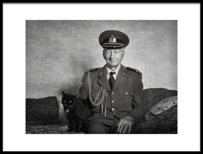 Art print titled White Age Retired Colonel by the artist nicoleta gabor