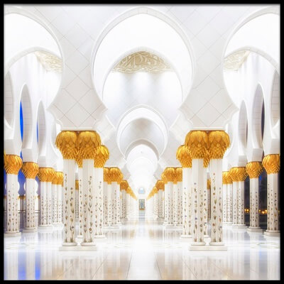 Buy this art print titled White and Gold by the artist Mohamed Raof