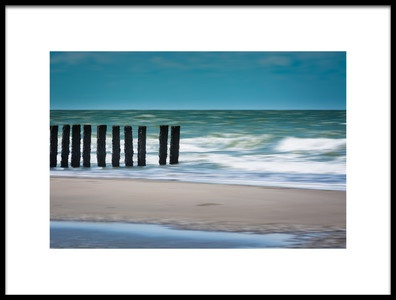 Art print titled White Waves by the artist Bernardine de Laat