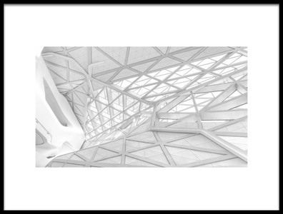 Art print titled White Web by the artist Ben Tam