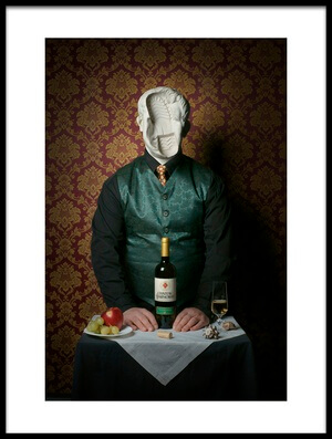 Art print titled White Wine by the artist Rossen Toshev