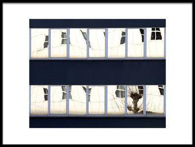 Art print titled Willow In a Window by the artist Jef Flour