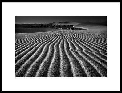 Art print titled Wind Combed Sand by the artist Lydia Jacobs