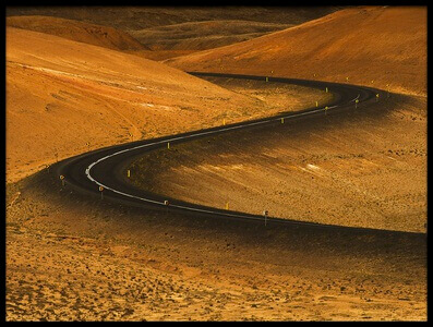 Buy this art print titled Winding Desert Road by the artist Sorin Vidis