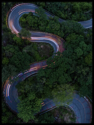 Buy this art print titled Winding Road by the artist Kobayashi Tetsurou