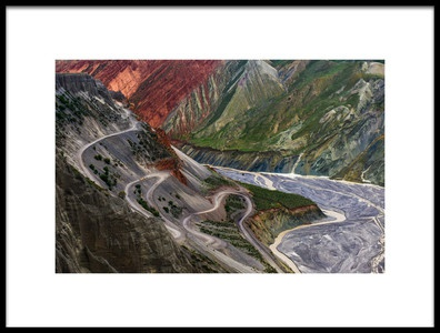 Art print titled Winding Road and River by the artist Heidi