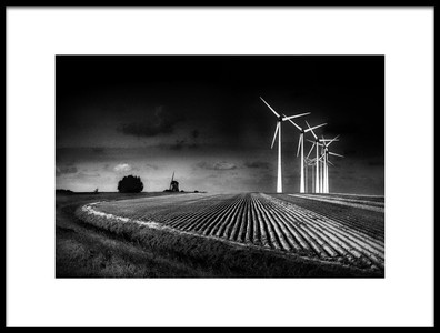 Art print titled Windmills by the artist Marc Apers