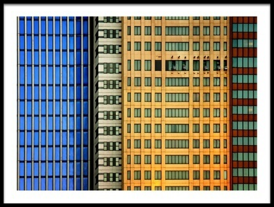 Buy this art print titled Windows On the City by the artist Mathilde Guillemot