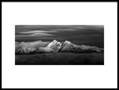 Art print titled Windy Tatras by the artist Peter Majkut