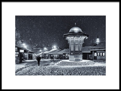 Buy this art print titled Winter In Sarajevo by the artist Bez Dan