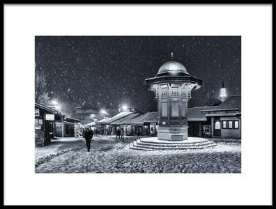 Buy this art print titled Winter In Sarajevo by the artist Bez Dan