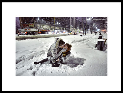Art print titled Winter Kiss by the artist Vlad Eftenie