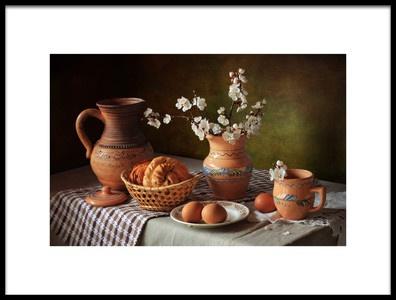 Art print titled With a Blossoming Branch by the artist Tatyana Skorokhod (Татьяна Скороход)