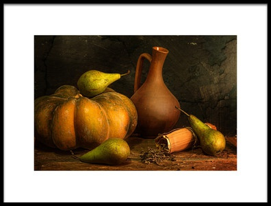 Art print titled With a Pumpkin by the artist Stanislav Aristov
