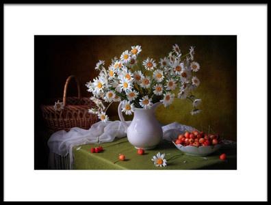 Art print titled With Camomiles and Merry by the artist Tatyana Skorokhod (Татьяна Скороход)