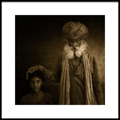 Art print titled With Grandpa by the artist Fadhel Almutaghawi