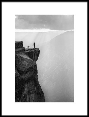 Buy this art print titled Woman and Dog On Cliff by the artist Aidong Ning