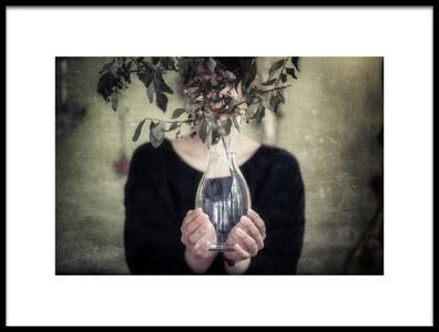 Art print titled Woman In a Vase by the artist Takashi Suzuki