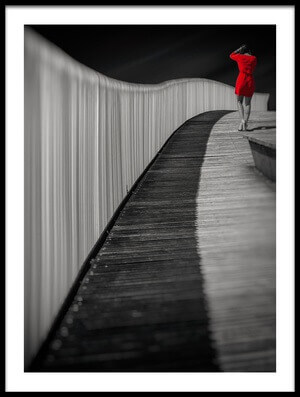Buy this art print titled Woman In Red by the artist Marco Antonio Cobo