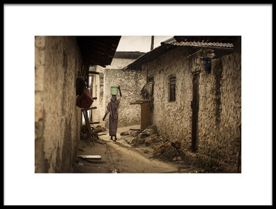 Art print titled Woman In the Village by the artist Dan Mirica