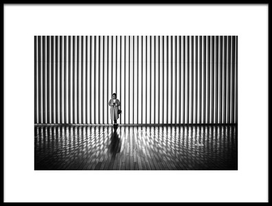 Art print titled Woman Waiting by the artist Tetsuya Hashimoto