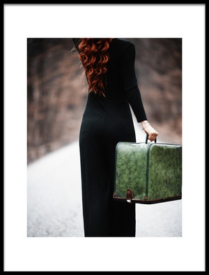 Buy this art print titled Woman With a Suitcase by the artist amir bajrich