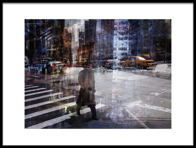 Buy this art print titled Woody Allen Crossing by the artist V B