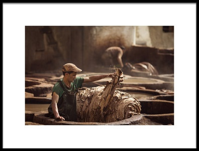 Art print titled Worker In Fes, Morocco by the artist Dan Mirica