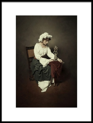 Art print titled Working Lady by the artist Carola Kayen-Mouthaan