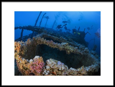 Art print titled Wreck of the Numidia by the artist Ilan Ben Tov