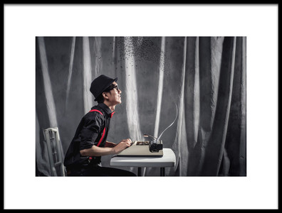Art print titled Writer by the artist ronaldnovianus
