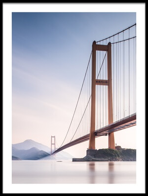 Art print titled Xihou Bridge & Moon Bay by the artist Qing Ai