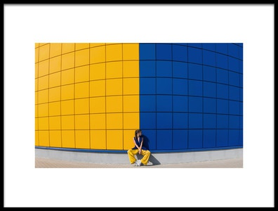 Art print titled Yellow and Blue by the artist Anna