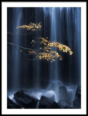 Art print titled Yellow Autumn by the artist Yuki Yatsushima