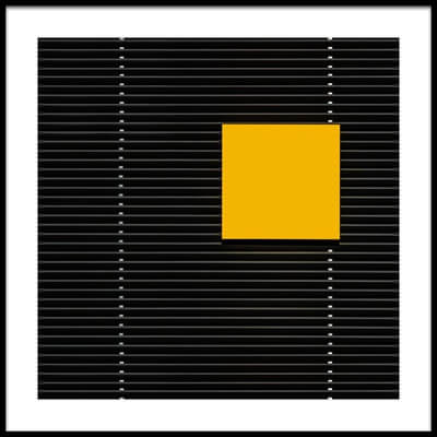 Buy this art print titled Yellow Square by the artist Luc Vangindertael (laGrange)