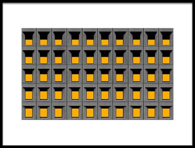 Art print titled Yellow Squares by the artist Inge Schuster