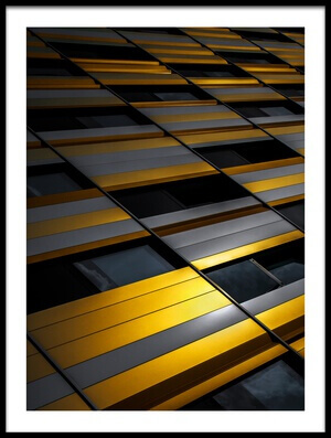 Art print titled Yellow Wall by the artist Gilbert Claes