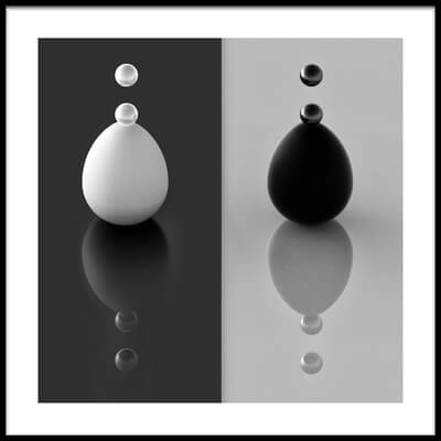 Buy this art print titled Yin Yang Eggs by the artist Antonyus Bunjamin (Abe)
